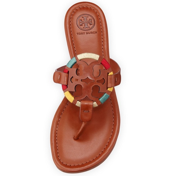 1ba5d9f16beb NWT Tory Burch Miller Flat Embroidered Sandals